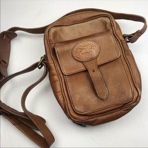 American Angel Tan Leather Crossbody Bag
